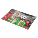 Christmas - Poodle - Lulu and Snookie Placemat