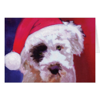 Christmas Poodle Puppy Card