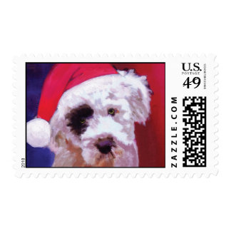 Christmas Poodle Puppy Postage