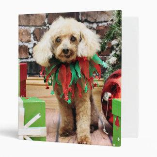 Christmas - Poodle - Sam 3 Ring Binder