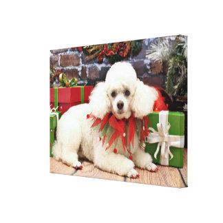 Christmas - Poodle - Sophie Canvas Print