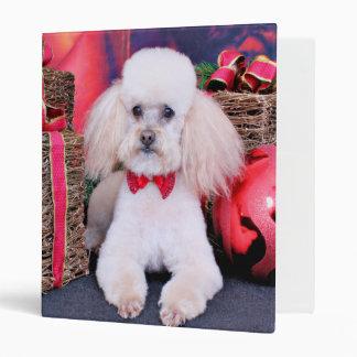 Christmas - Poodle - Spanky 3 Ring Binders