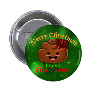 Christmas Poop Button