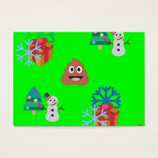 christmas poop emoji business card