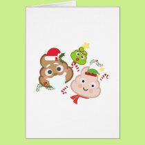 Christmas Poop Emoji Funny Kids Men Women Card