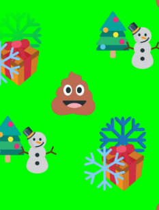 christmas poop emoji holiday postcard - Christmas Poop