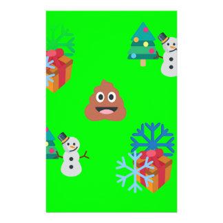 christmas poop emoji stationery