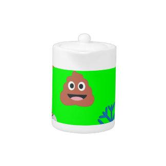 christmas poop emoji teapot