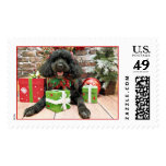 Christmas - Portuguese Water Dog - Yanda Stamps