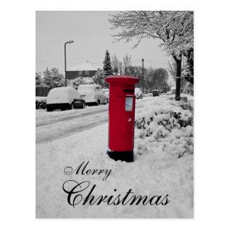 Christmas Post box Postcard