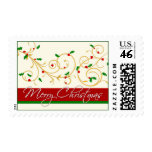 Christmas Postage - Elegant scrolls and holly