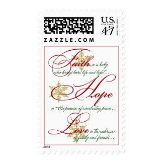 Christmas Postage | Faith Hope Love | Snowflakes