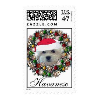 Christmas Postage - Havanese
