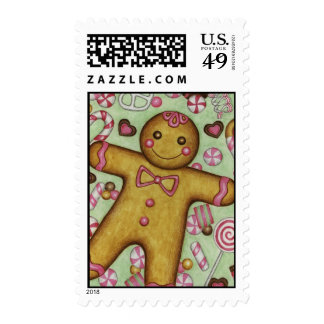 Christmas Postage Stamp Big Gingerbread Boy