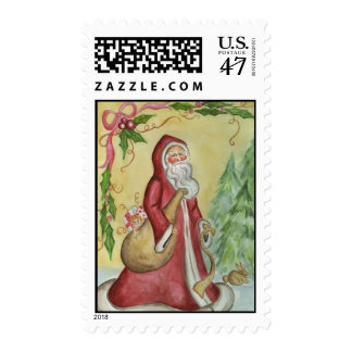 Christmas  Postage Stamp Father Christmas Santa