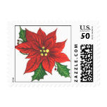 Christmas Postage STAMPS<br><div class='desc'>Christmas is coming!  Put a special stamp on those cards!  Poinsettia design from www.zazzle.com/RealPotential*</div>