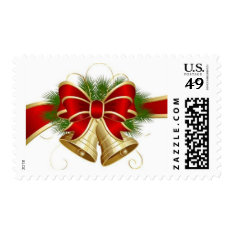 Christmas Postage Stamps/bell at Zazzle