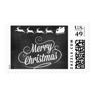 Christmas Postage Stamps/Chalk Board Art