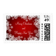 Christmas Postage Stamps/Snowflakes at Zazzle
