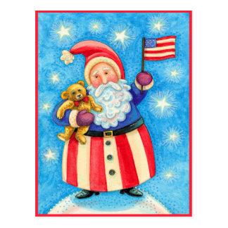 Christmas Postcard: American Santa Claus