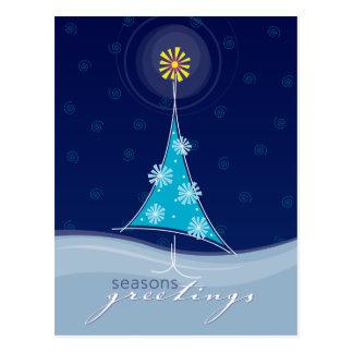 CHRISTMAS POSTCARD :: whimsical christmastree 2P