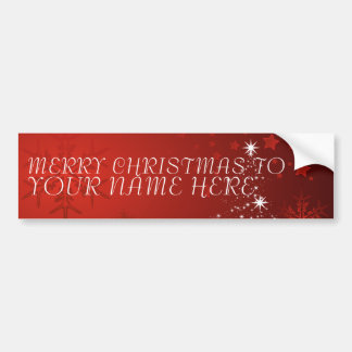 Christmas Postcard with Custom Name  -Add your own Bumper Sticker