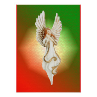 Christmas Poster Prints - Religious Angel