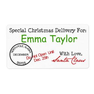 Christmas Postmark Gift Stickers