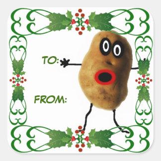 Christmas Potato Gift Tag