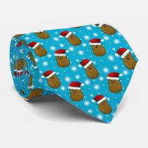 Christmas Potato In A Santa Hat Neck Tie