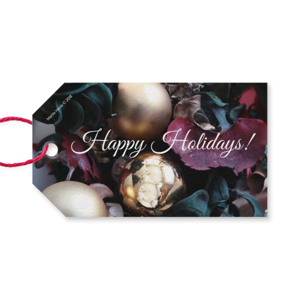 Christmas Potpourri (Personalize) Double-Sided Gift Tags
