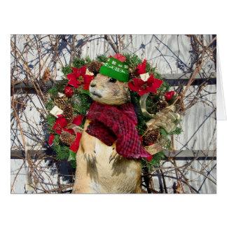 Christmas  Prairie Dog Large Greeting Card