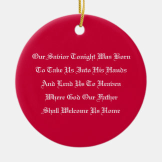 Christmas Prayer Ornament (Red)