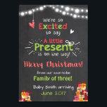 "Christmas pregnancy announcement card chalkboard<br><div class=""desc"">♥ An adorable way to announce your pregnancy! Christmas theme.</div>"