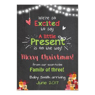 Christmas pregnancy announcement card chalkboard