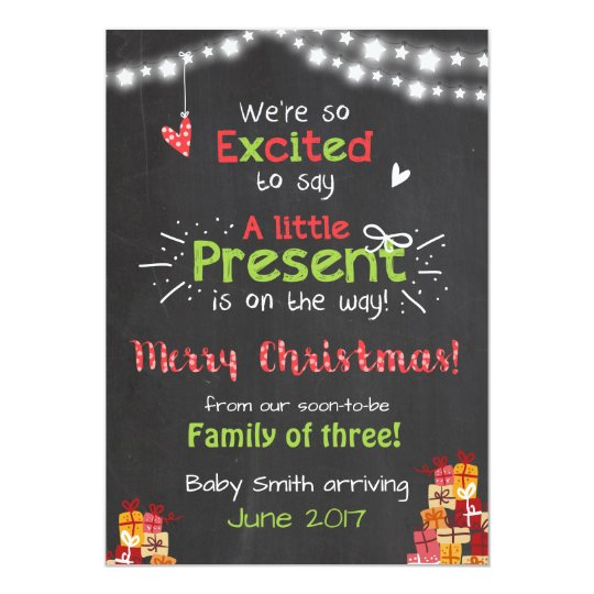 Charming Baby Announcement Christmas Card