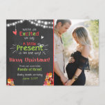 "Christmas pregnancy announcement card chalkboard<br><div class=""desc"">♥ An adorable way to announce your pregnancy! Christmas theme and room for your own picture.</div>"