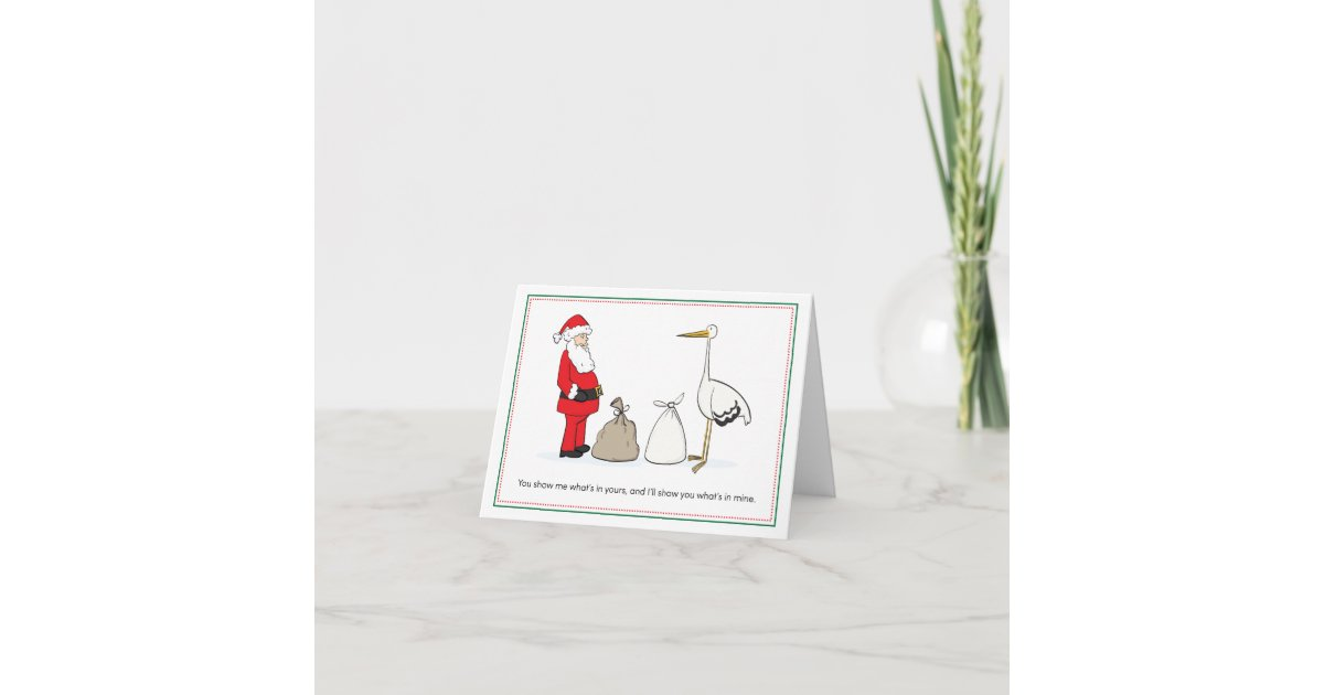 Christmas Pregnancy Announcement Cards - Sacks | Zazzle.com