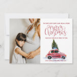 """Christmas Pregnancy Announcement - Vintage Car<br><div class=""""desc"""">""""Joy to the World"""" takes on quite a new meaning when couples find out they"""