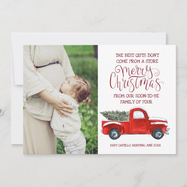 Christmas Pregnancy Announcement - Vintage Truck