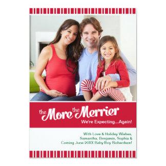 Christmas Pregnancy- Expecting Again Card