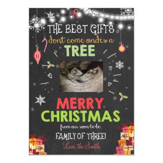 Christmas pregnancy ultrasound announcement