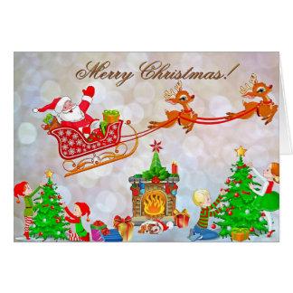 Christmas Preparations Greeting Card