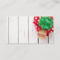 Christmas Present Background Business Card