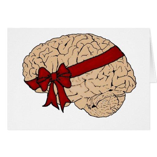 Christmas Present Brain Greeting Card