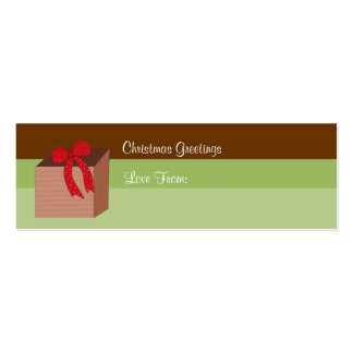 Christmas Present  - Gift Tag Business Card Template