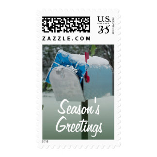 Christmas present in mailbox postage