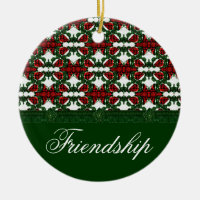 Christmas Present Pattern Ceramic Ornament
