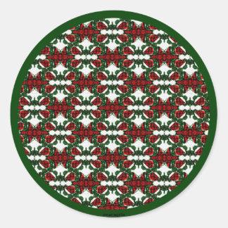 Christmas Present Pattern Classic Round Sticker