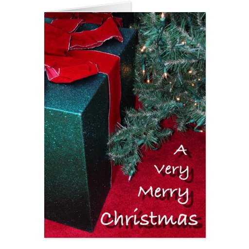 Christmas present to you greeting card